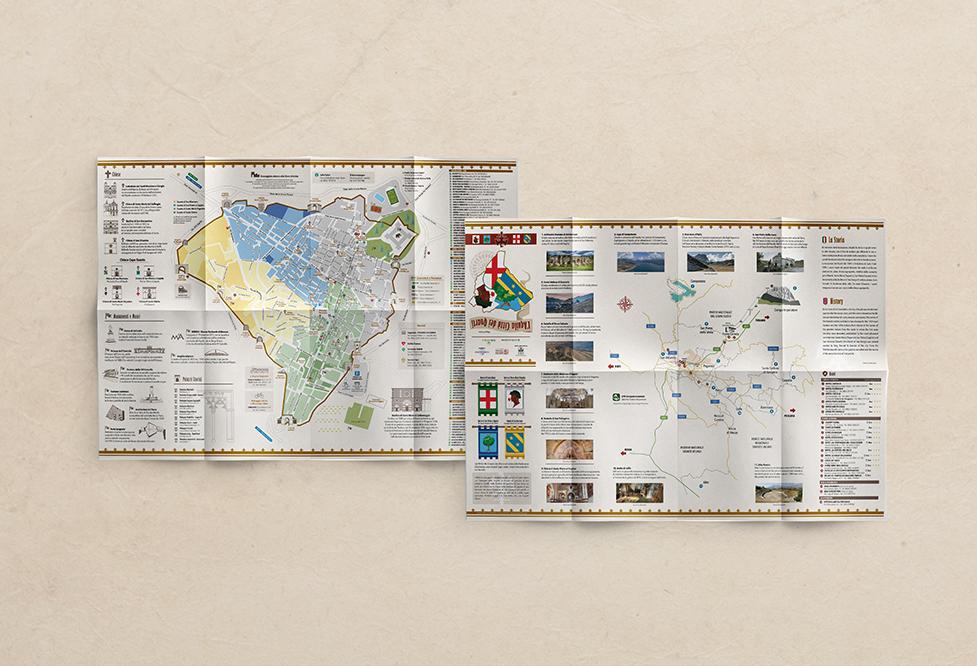 Grafica Mappa Turistica L'Aquila