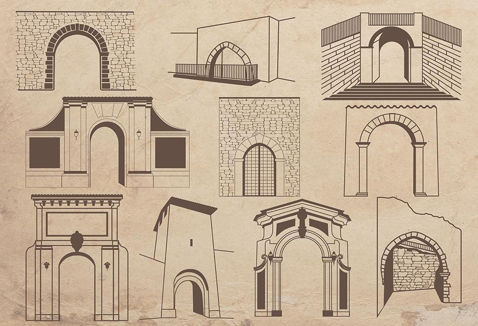 Illustrazione Mappa Turistica L'Aquila